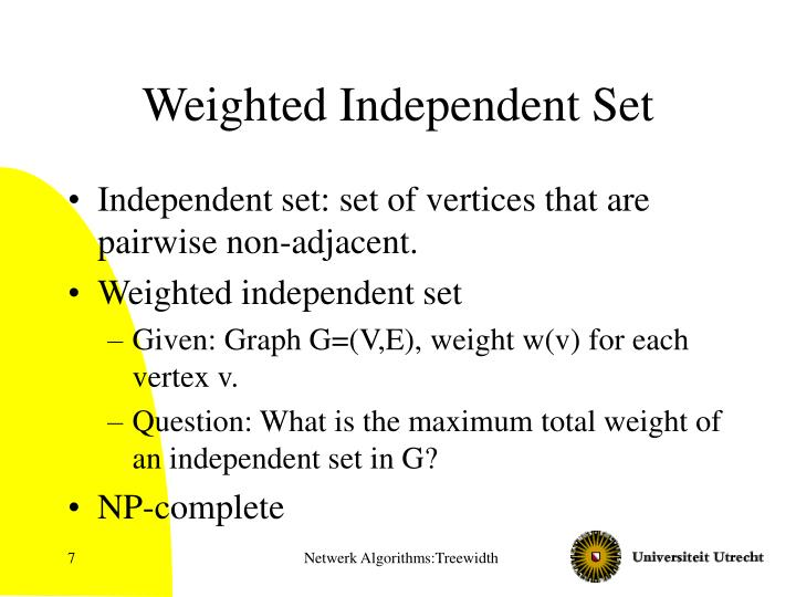 Weighted Independent Set