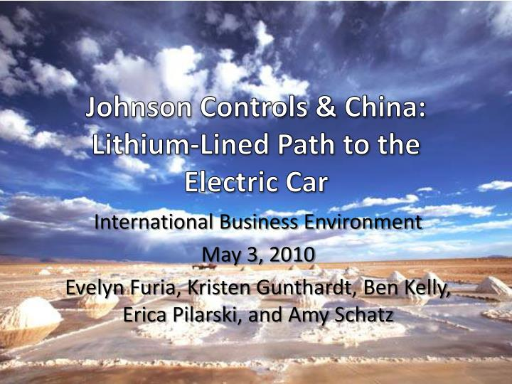 Johnson controls china lithium lined path to the electric car