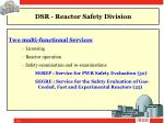 dsr reactor safety division3