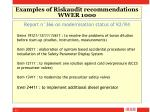 examples of riskaudit recommendations wwer 1000