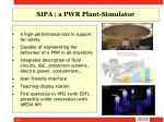 sipa a pwr plant simulator