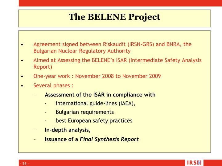 Agreement signed between Riskaudit (IRSN-GRS) and BNRA, the Bulgarian Nuclear Regulatory Authority
