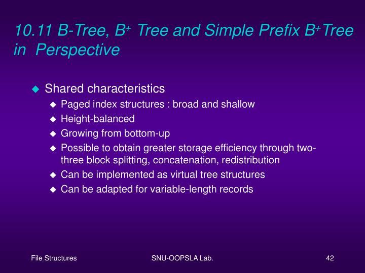 10.11 B-Tree, B