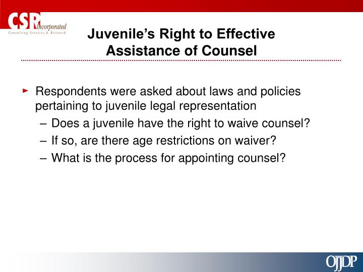 Juvenile's Right to Effective