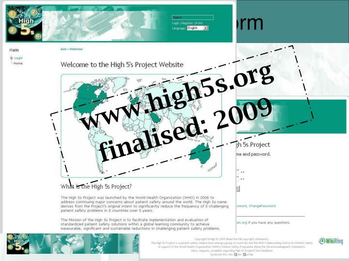 IMS: Wiki platform