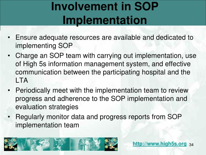 Involvement in SOP Implementation