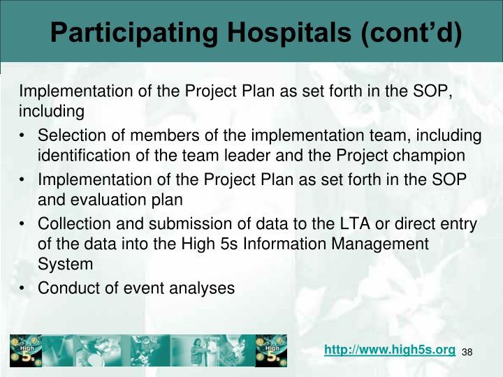 Participating Hospitals (cont'd)