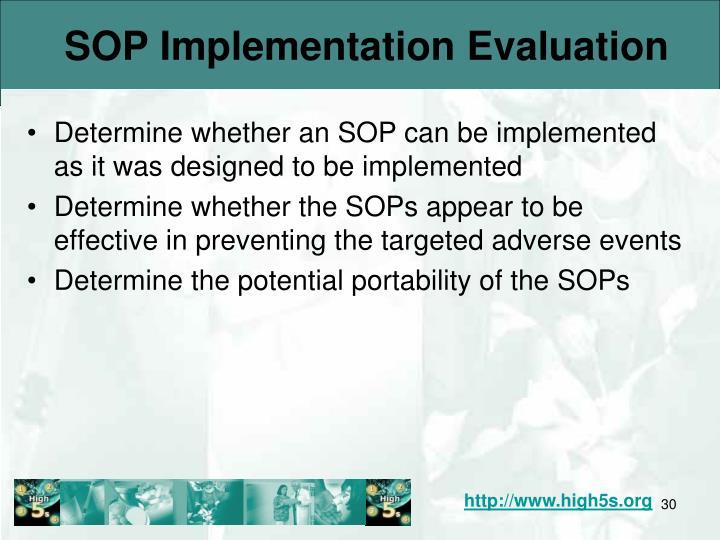 SOP Implementation Evaluation