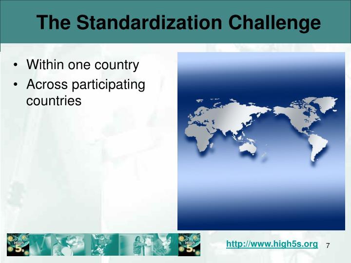 The Standardization Challenge