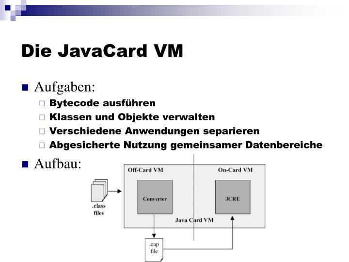 Die JavaCard VM
