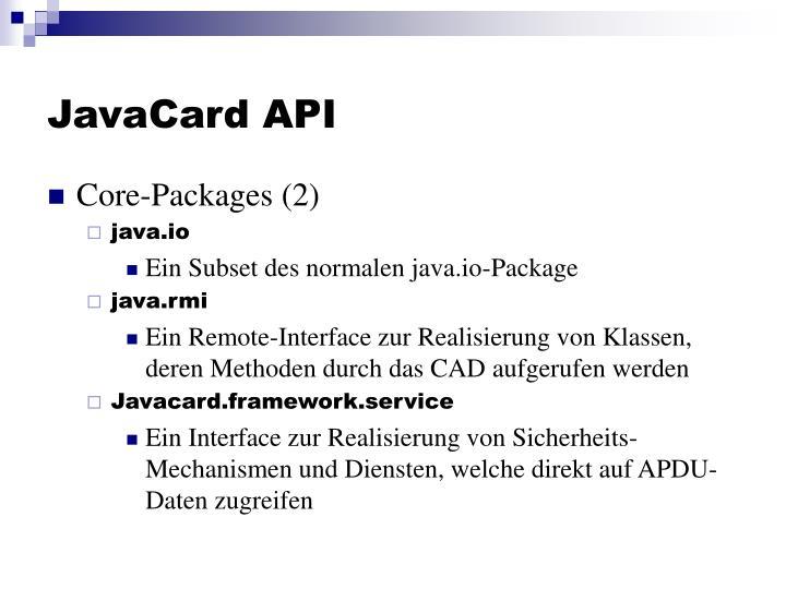 JavaCard API