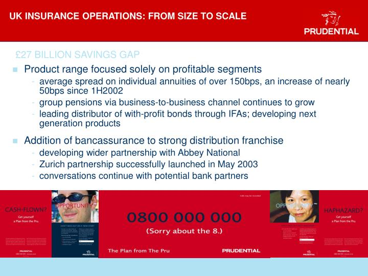 UK INSURANCE OPERATIONS: FROM SIZE TO SCALE