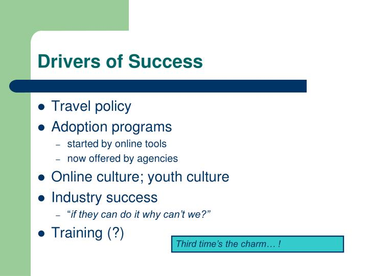 Drivers of Success