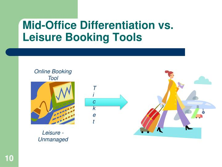 Mid-Office Differentiation vs. Leisure Booking Tools