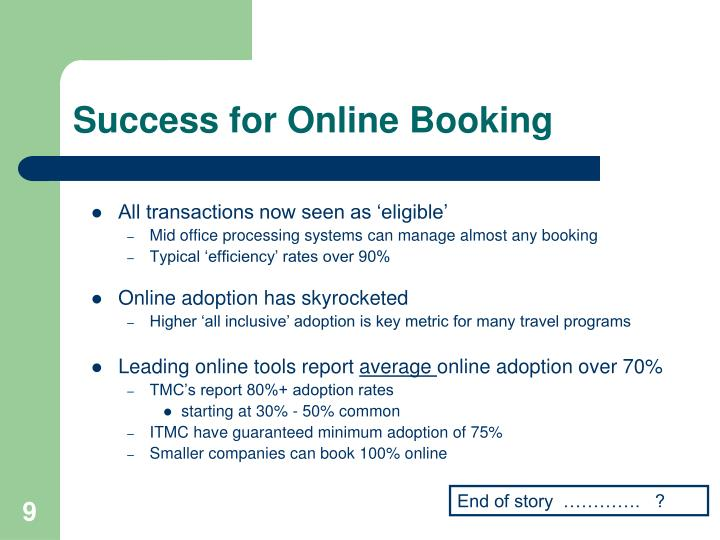 Success for Online Booking
