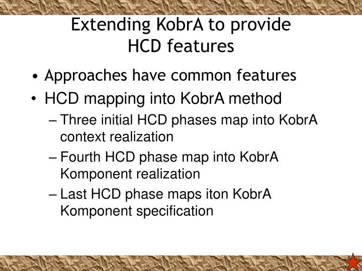 Extending KobrA to provide