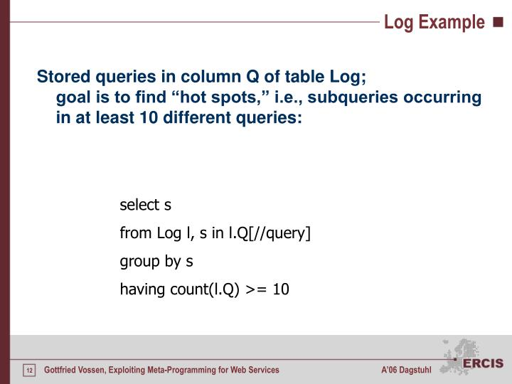Log Example