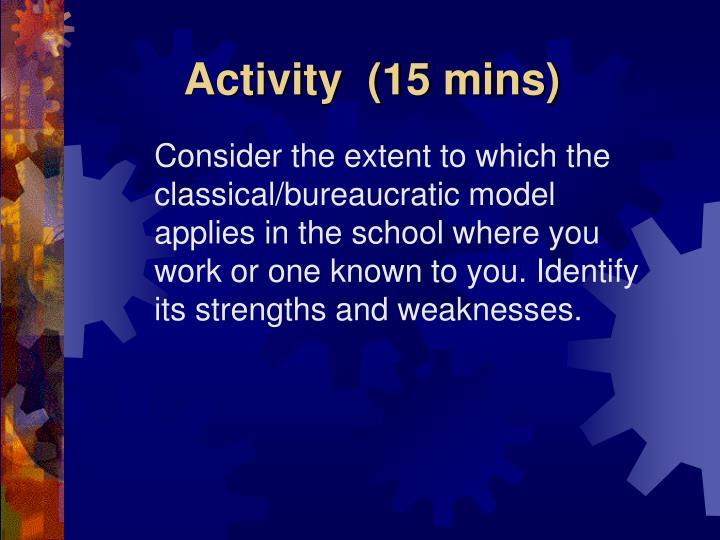 Activity  (15 mins)