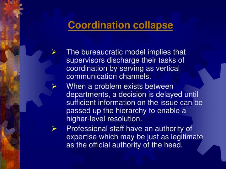 Coordination collapse