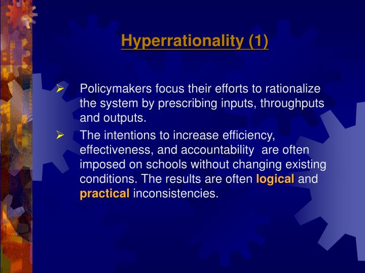 Hyperrationality (1)