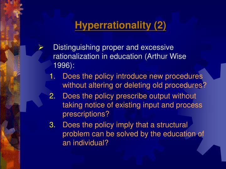 Hyperrationality (2)