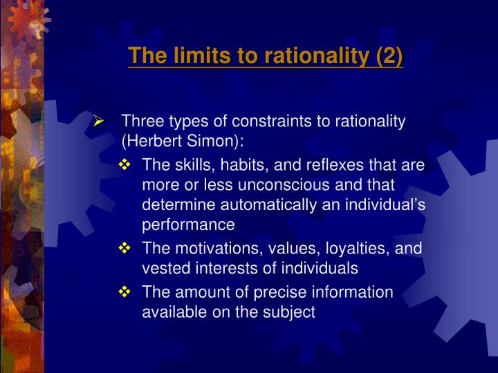 The limits to rationality (2)