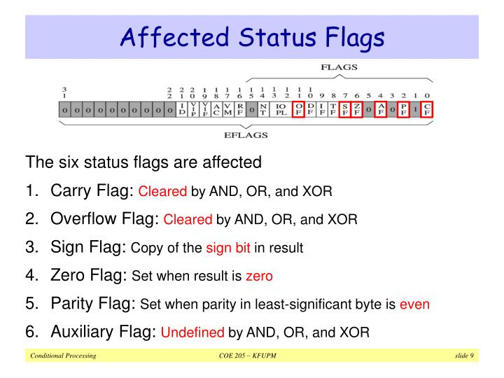 Affected Status Flags