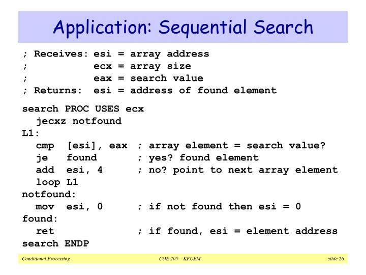 Application: Sequential Search