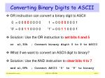 converting binary digits to ascii