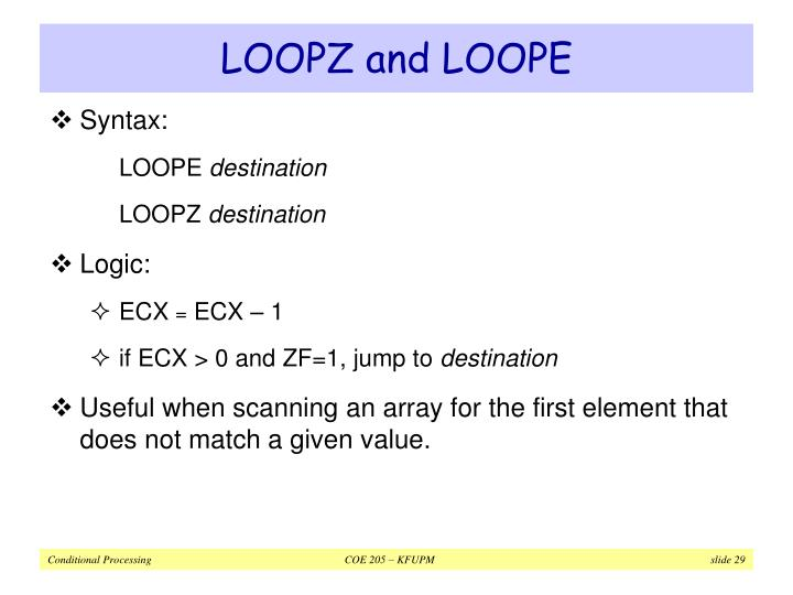 LOOPZ and LOOPE