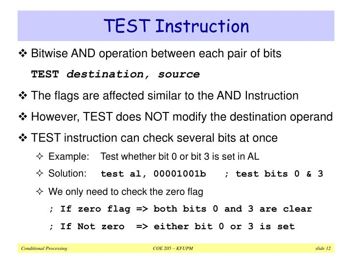 TEST Instruction