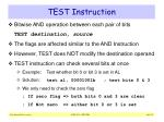 test instruction