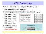 xor instruction