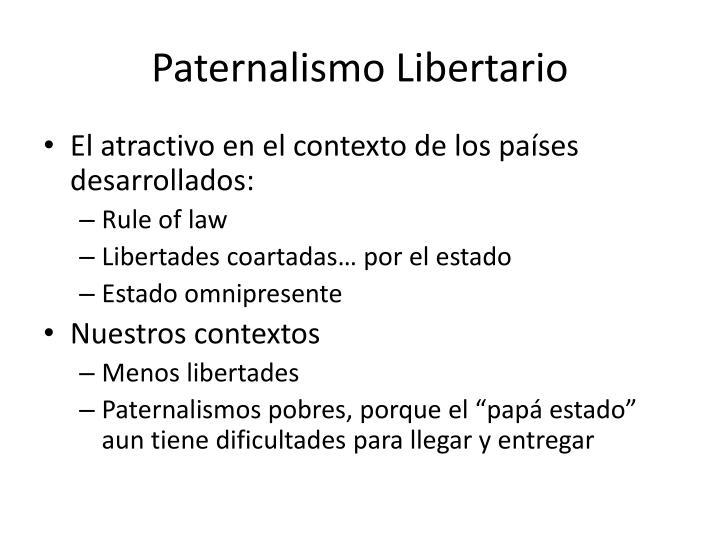 Paternalismo Libertario