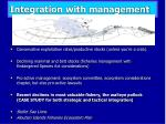 integration with management