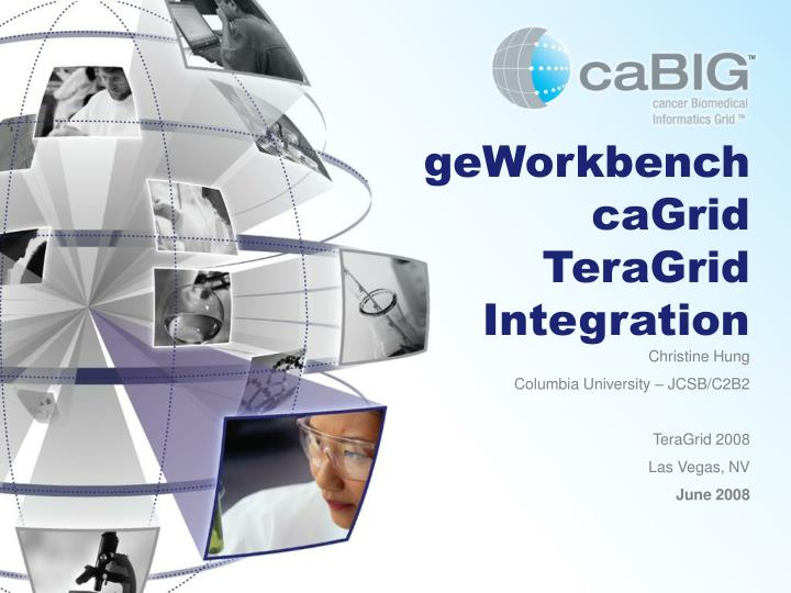 Geworkbench cagrid teragrid integration