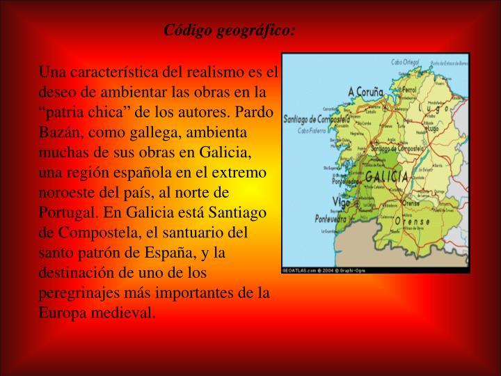 Código geográfico:
