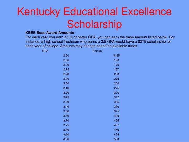Kentucky Educational Excellence Scholarship