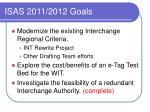 isas 2011 2012 goals