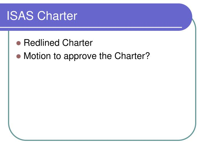 ISAS Charter