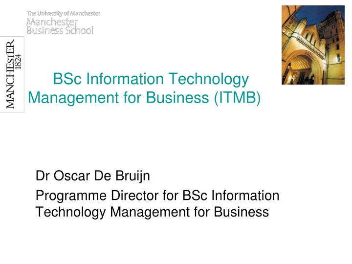 Technology Management Image: BSc Information Technology Management For Business