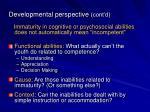 developmental perspective cont d1