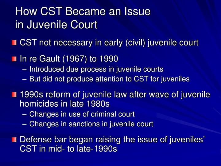issues with juveniles A new canadian study adds to the evidence that punishing troubled teens within the juvenile-justice system exacerbates their bad behavior.