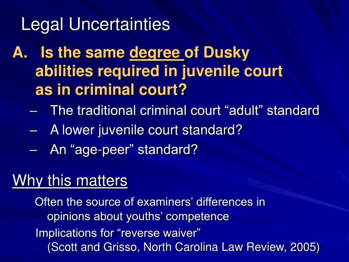 Legal Uncertainties