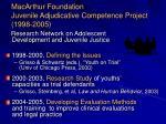 macarthur foundation juvenile adjudicative competence project 1998 2005