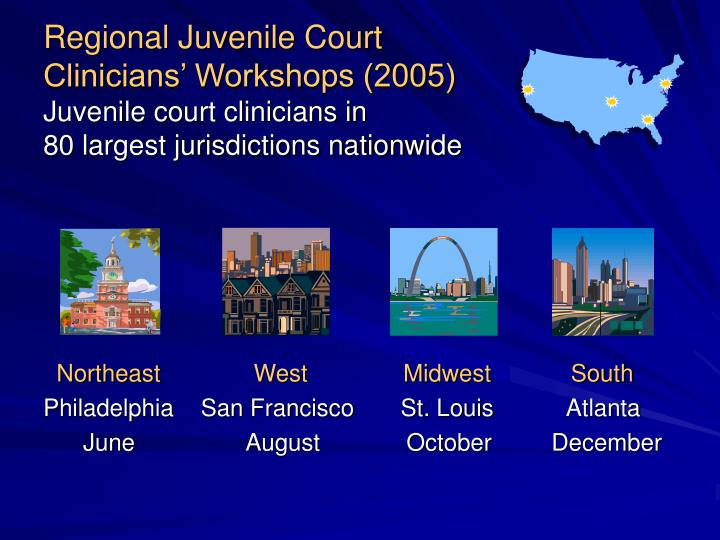 Regional Juvenile Court                               Clinicians' Workshops (2005)