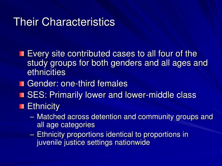 Their Characteristics