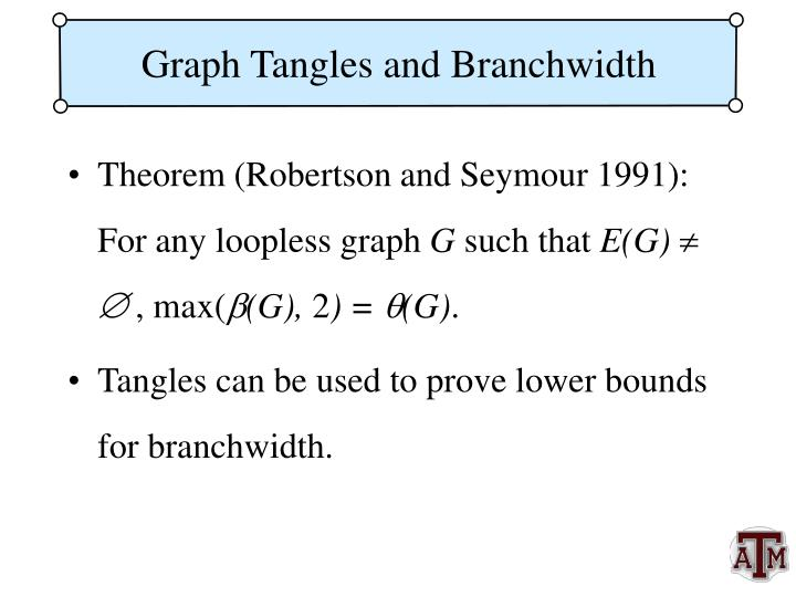 Graph Tangles and Branchwidth