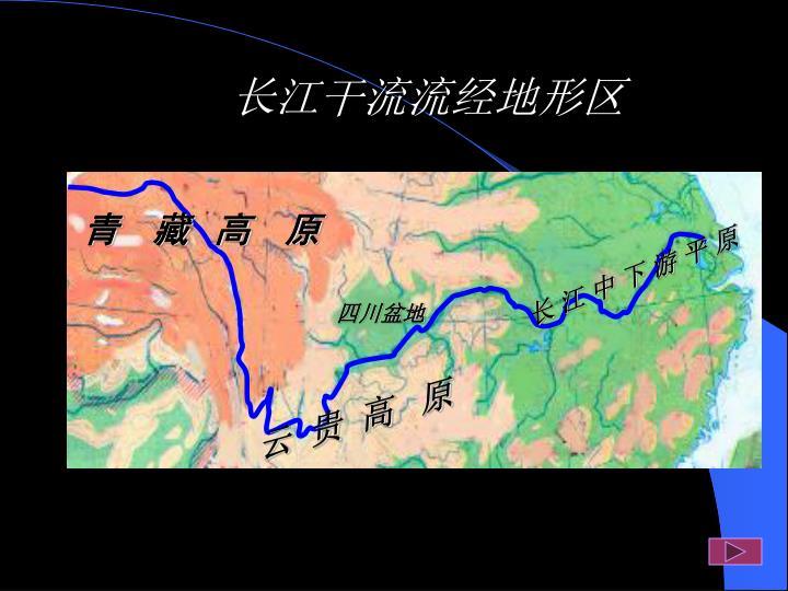 长江干流流经地形区