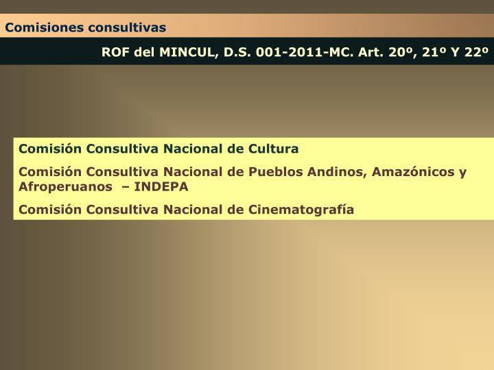 Comisiones consultivas